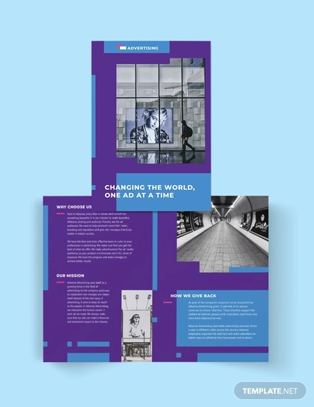 advertising company bi fold brochure template1