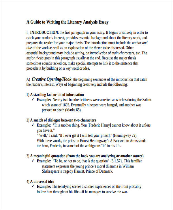essay writing examples literary analysis essay writing