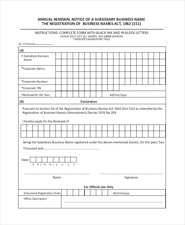 annual notice sample