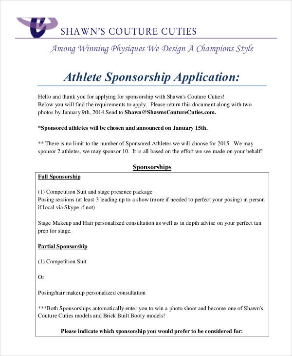 athlete sponsorship