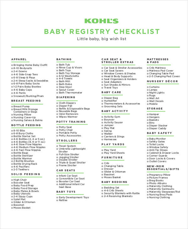 The Ultimate Nursery Decorating Checklist: 26+ Printable Checklist Examples