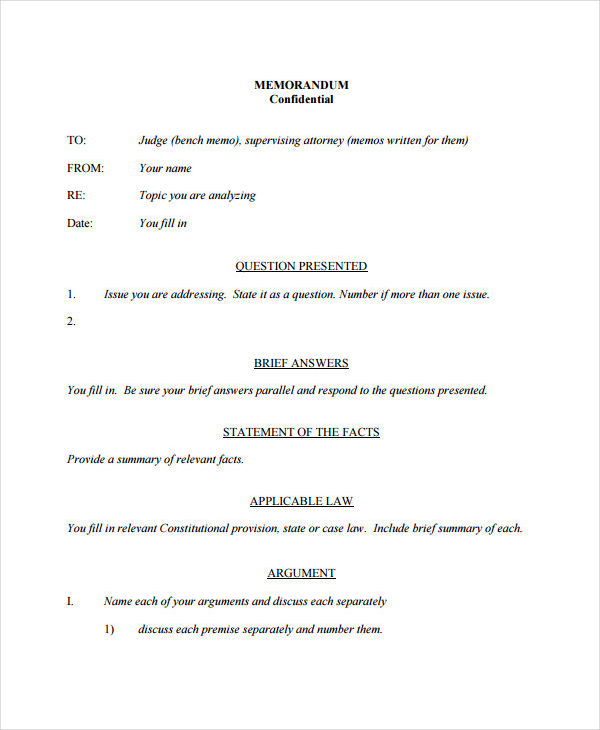 free 5  confidential memo examples  u0026 samples pdf
