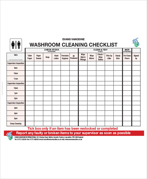 bathroom cleaning example