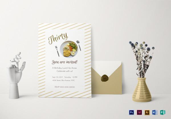 birthday lunch invitation template