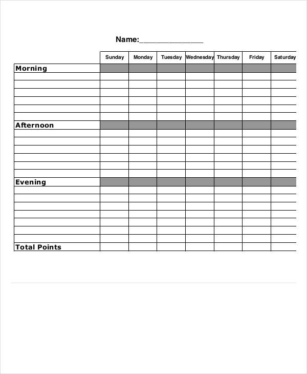 15  chore chart examples  u0026 samples in pdf  word