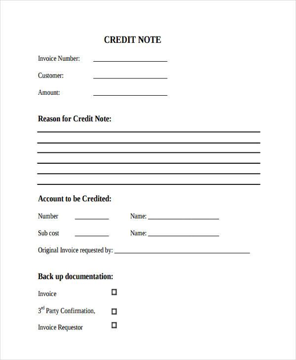 blank credit