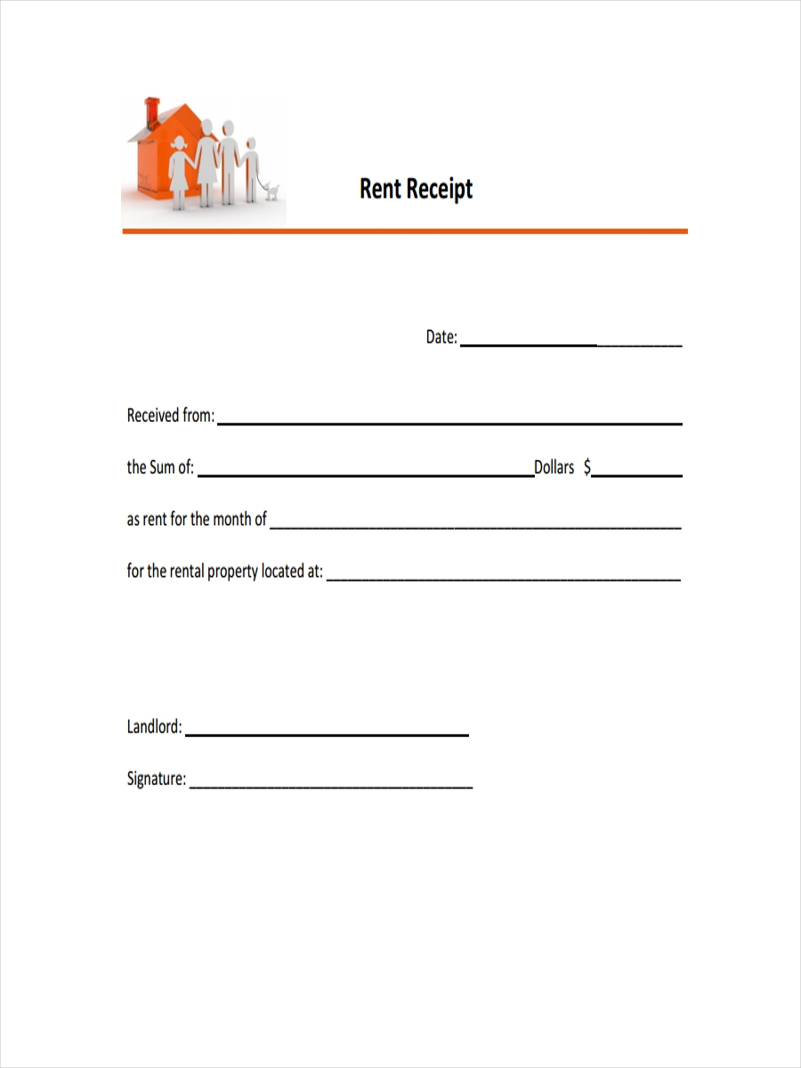 Blank Rent Receipt  Free Printable Rent Receipt