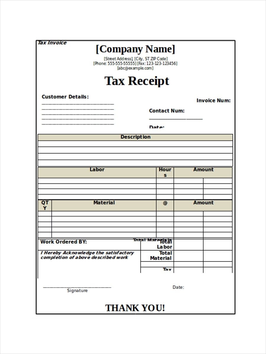 blank tax receipt sample1