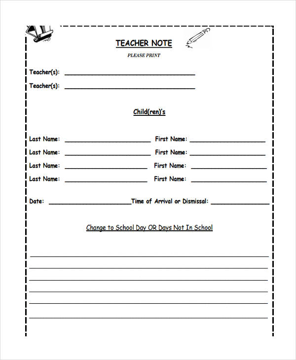 blank teacher example