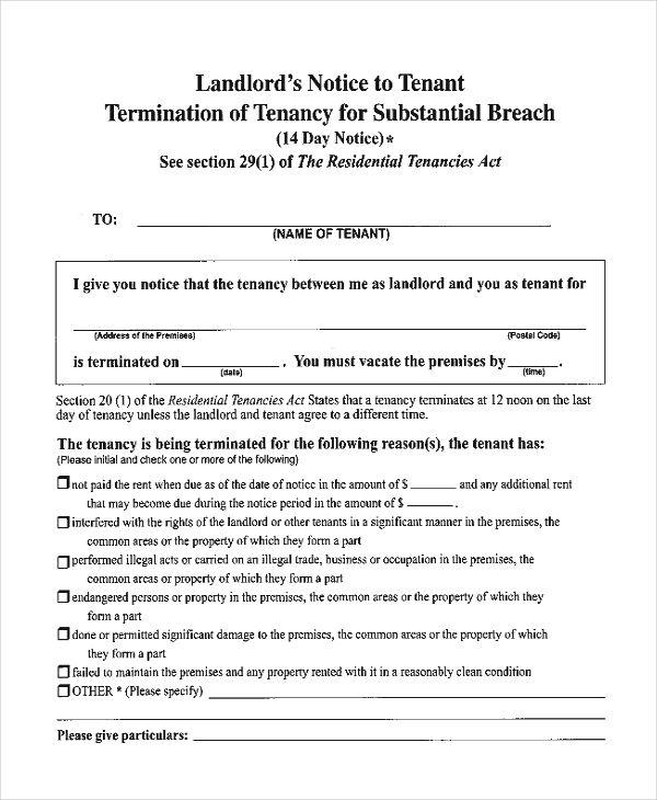 breach notice