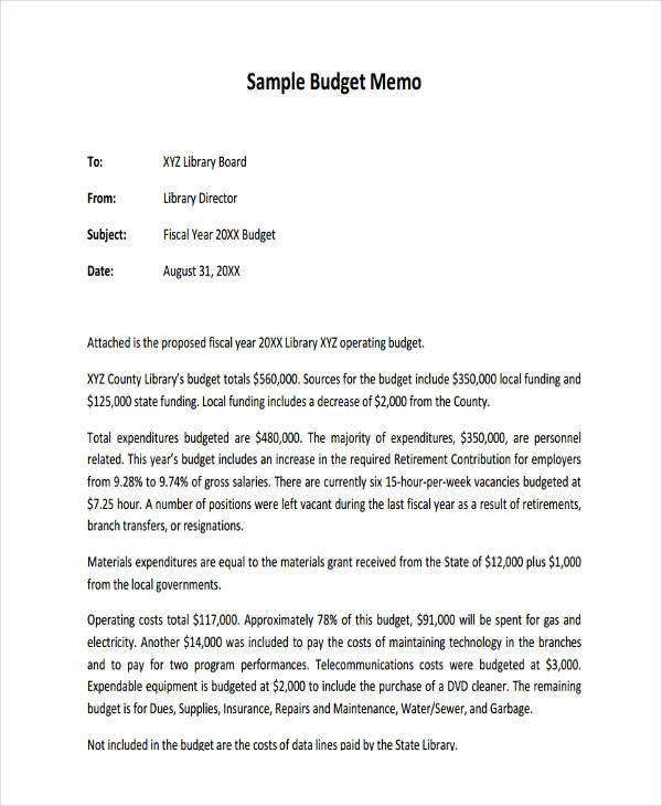 Budget Memo Templates Some People Appear To Think That Memos