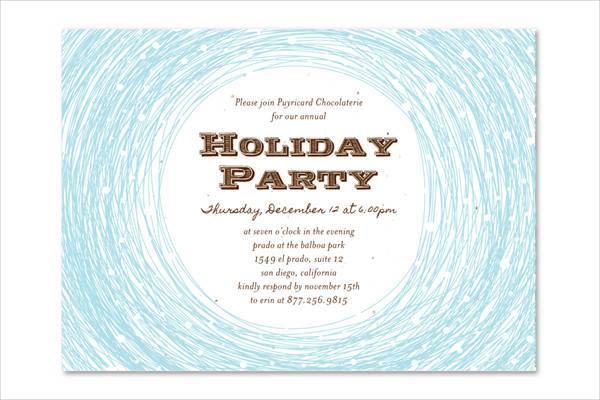 business holiday lunch invitation