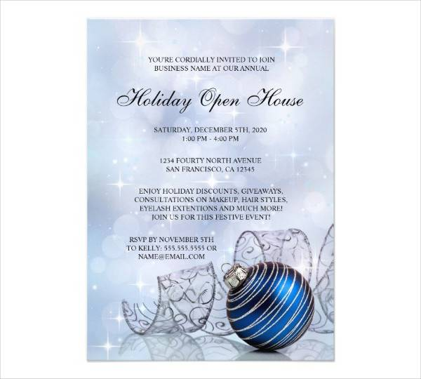business holiday open house invitation