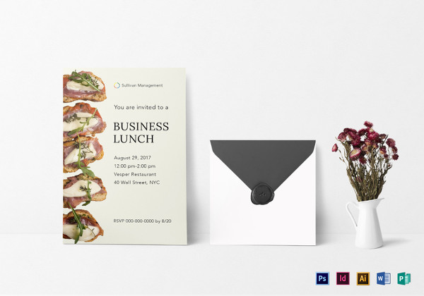 Lunch Invitation Designs  Examples  Psd Ai Vector Eps
