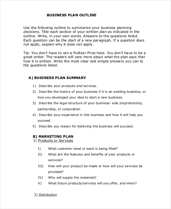33  business plan examples  u0026 samples in pdf