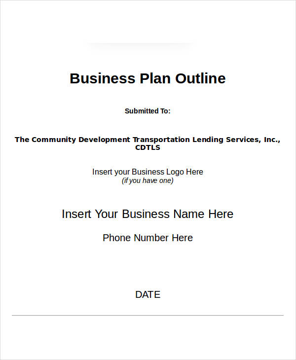 Examples Of Simple Business Plans - Simple business plan outline template