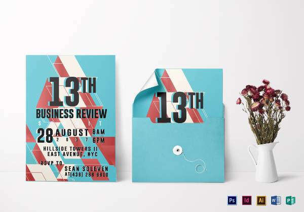 business review invitation example1