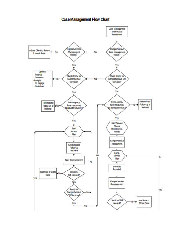 case management flowchart