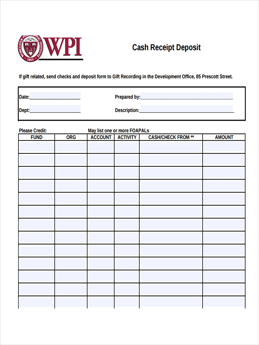 8  deposit receipts examples  u0026 samples