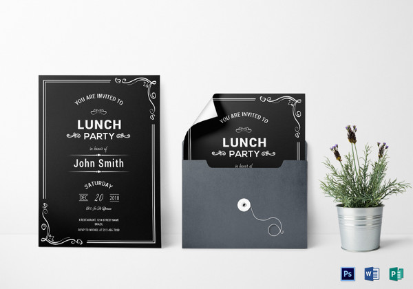 27 lunch invitation designs examples psd ai vector eps chalkboard rehearsal lunch invitation template stopboris Images