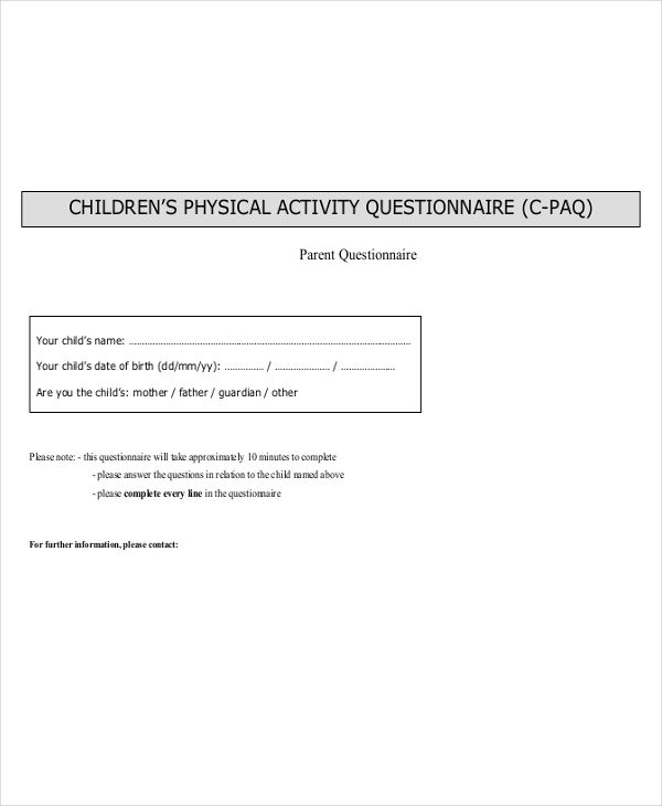 children physical activity