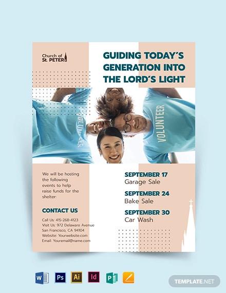 church fundraiser flyer template