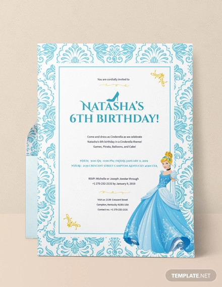 cinderella invitation example