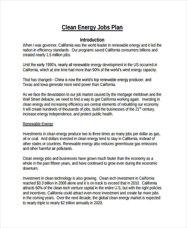 clean energy jobs plan
