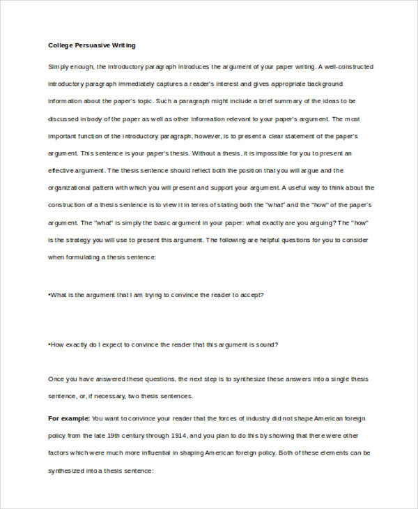 persuasive writing samples college persuasive writing