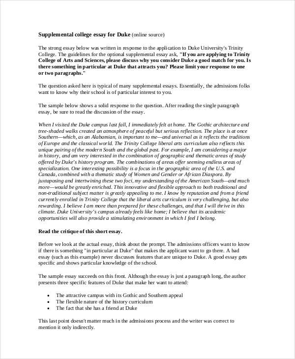 Short Essay Examples  Samples  Pdf  Examples College Short Essay