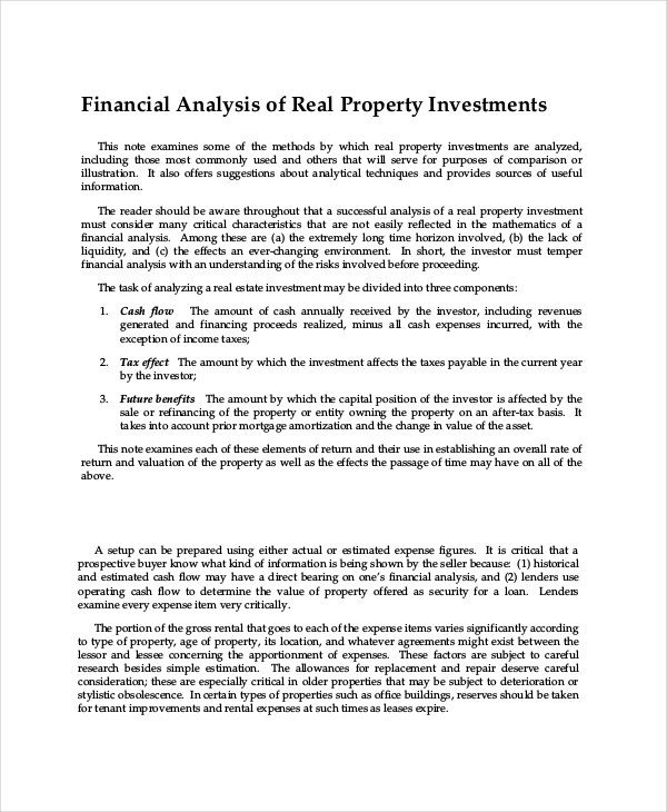 commercial real estate financial