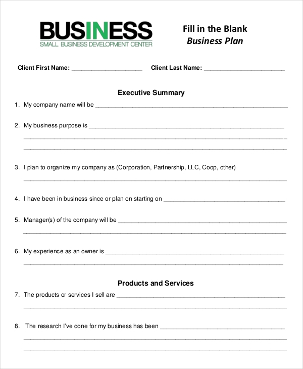 company business plan