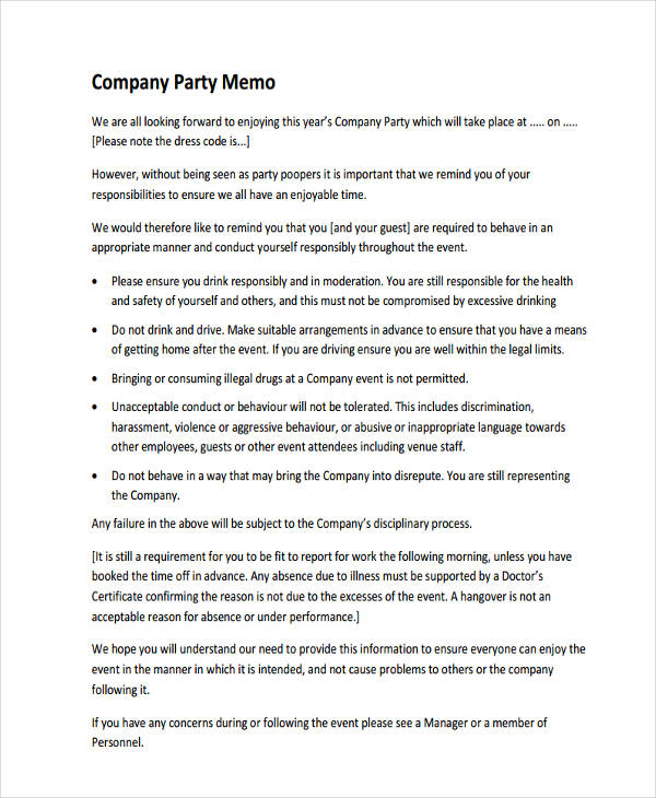 Company Memo Template Sample Business Memo Sample Memo Examples In
