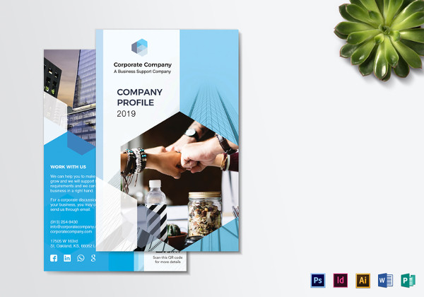 Examples Of Company Brochure Design PSD AI Vector EPS - Company profile brochure template