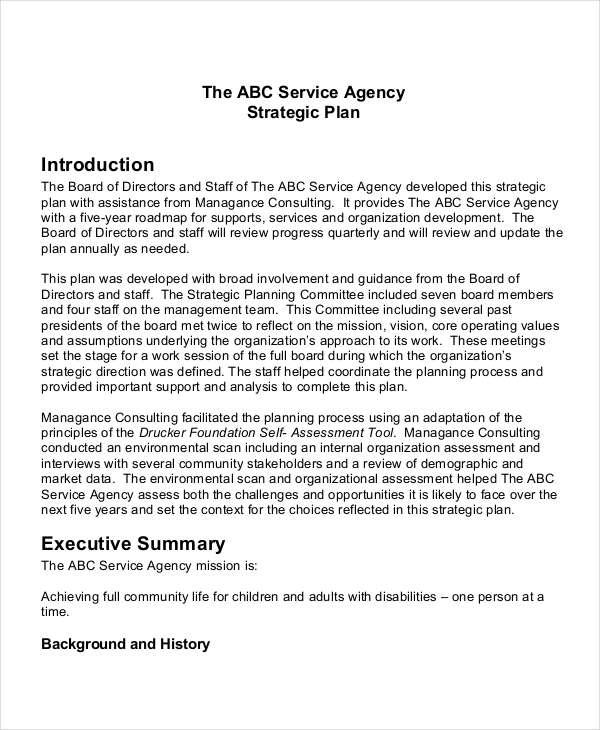 company strategic plan example pdf