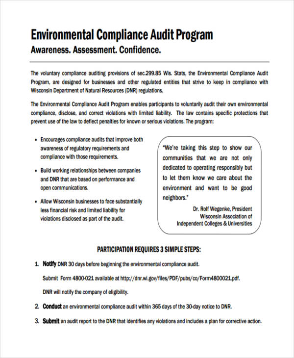 compliance audit program