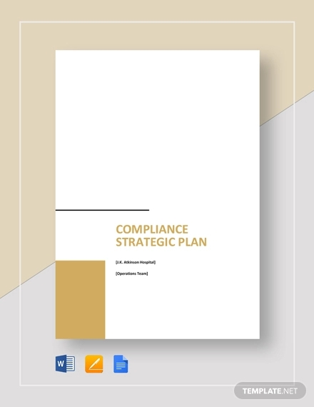 compliance strategic plan template