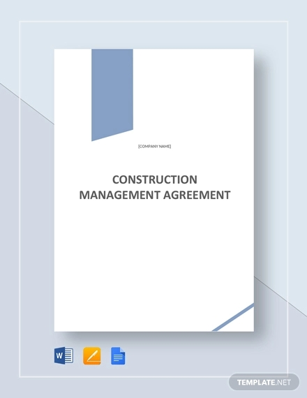 construction management agreement example