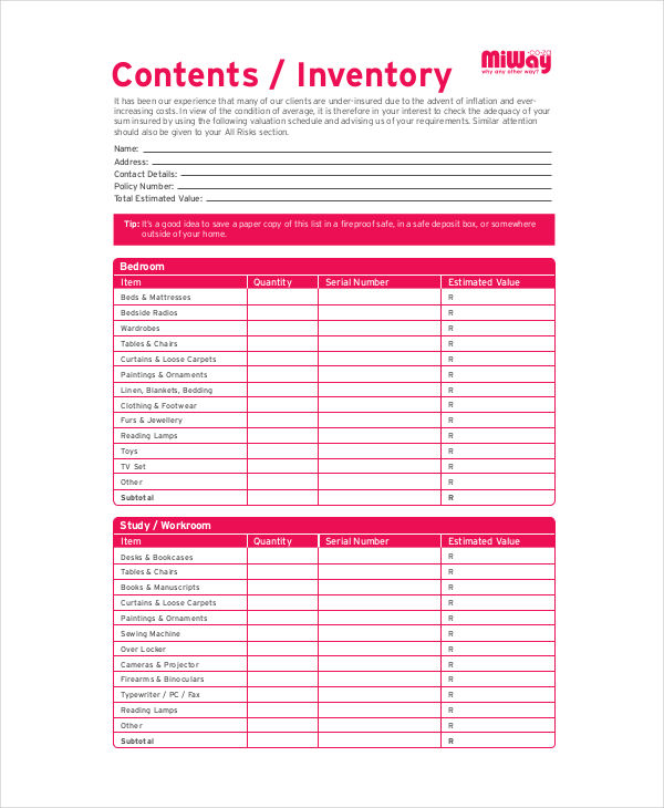 content inventory example