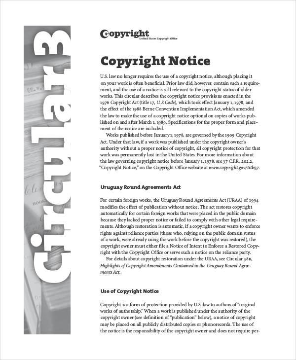copyright in pdf