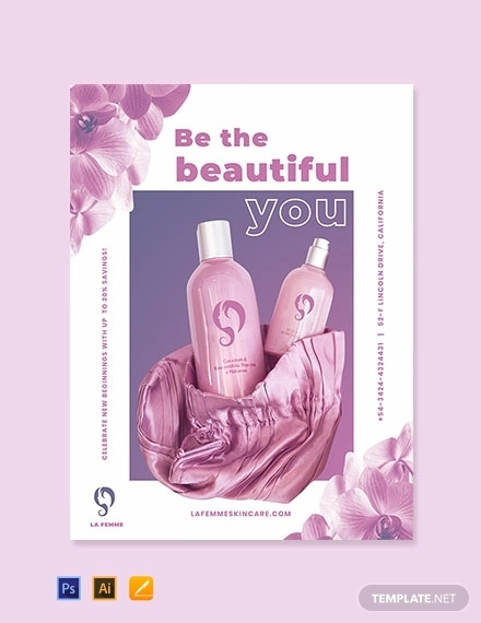 cosmetics advertisement poster template