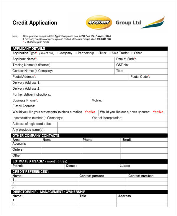 credit note application
