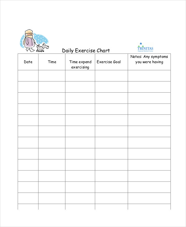 Exercise Charts Examples Samples