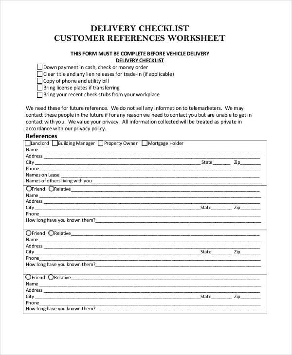26  printable checklist examples