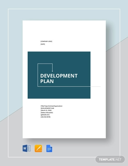 development plan format template