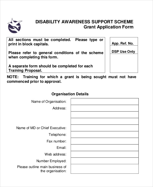 Disability Application Examples Samples