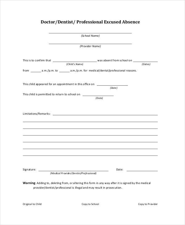 Absence Note. Free Printable Absence Notes For The Elementary ...