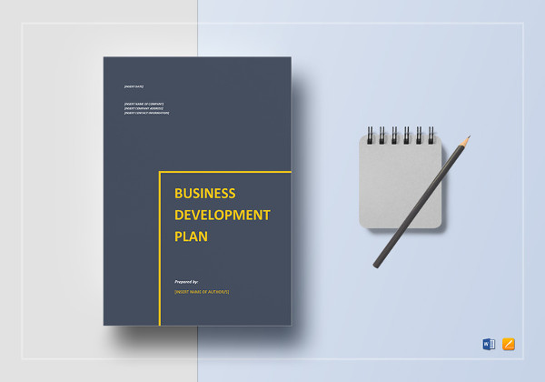 editable business development plan template