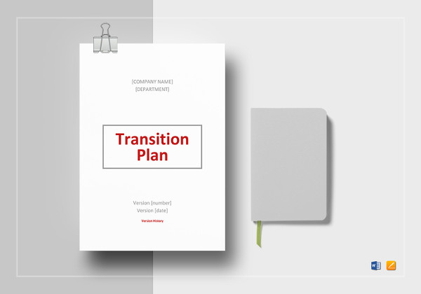 editable transition plan template