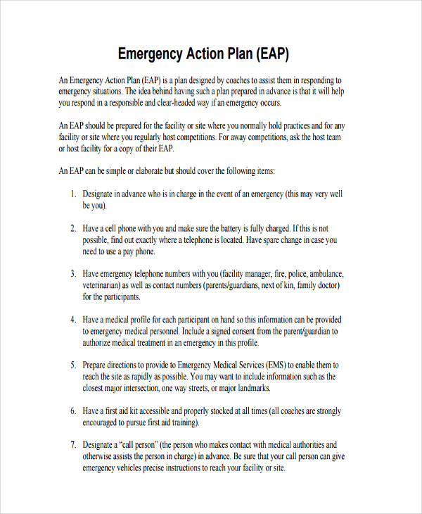 34 Examples of Plans – Simple Contingency Plan Example